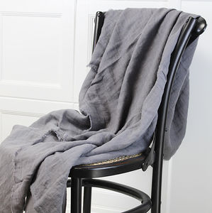 Linen Fringe Throw - blankets & throws