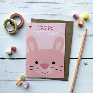 Cute Bunny Birthday Card