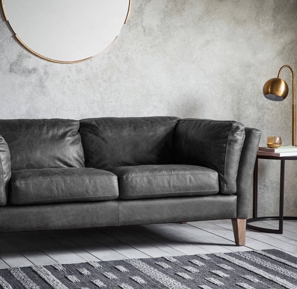Soft Leather Sofa: Super Soft Black Leather Sofa By The Forest & Co