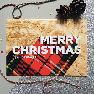 Packs Of Funny Tartan Scottish Christmas Cards - cards