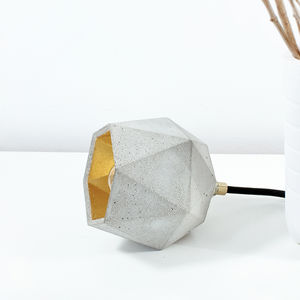 Handmade Light Grey Concrete Floor Lamp - floor lamps