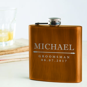 Personalised Groomsmen Hip Flask - best man & usher gifts