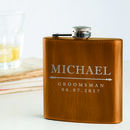 Personalised Groomsmen Hip Flask