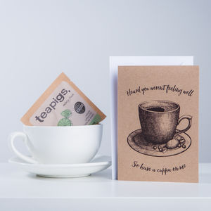 Get Well Card With Peppermint Tea Gift