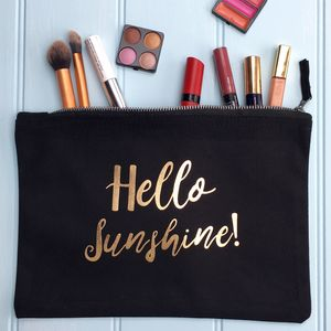 Accessory Bag With Foil Wording - gifts for her