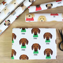 Personalised Dogs In Christmas Jumpers Wrapping Paper