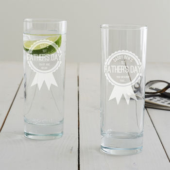 Personalised First Father's Day Hi Ball Glass