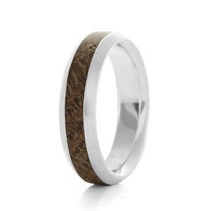 Wood Ring Native Mid Oval - wedding rings