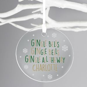 'Gi Ngle Bells' Personalised Christmas Decoration