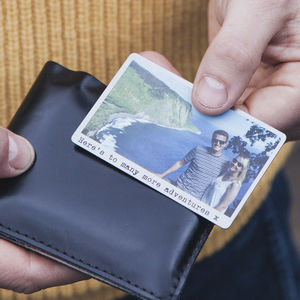 Personalised Solid Copper Wallet Photo Card - best valentine's gifts for him