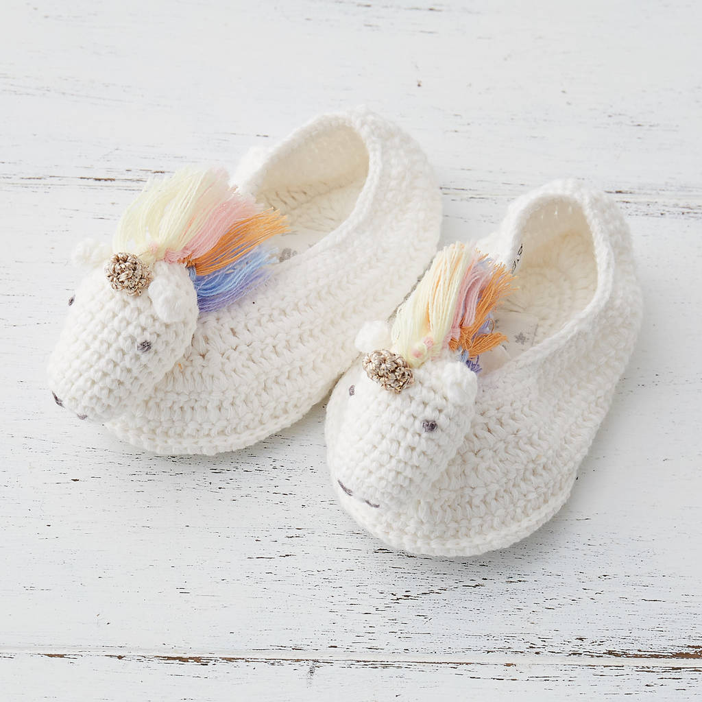 Rainbow Unicorn Baby Booties by Albetta
