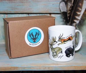 Jackalopes Illustration Mug - mugs