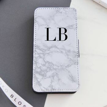 Personalised Marble Flip Phone Case