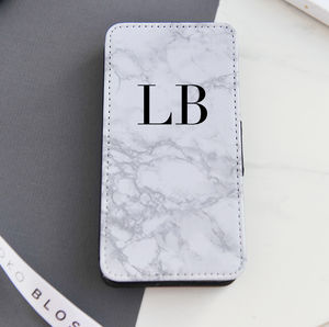 Personalised Marble Flip Phone Case - phone covers & cases