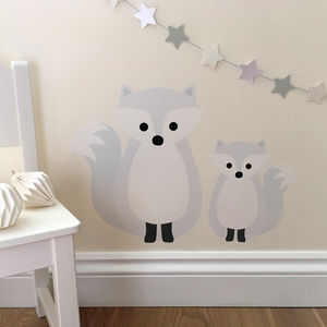 Snow Fox Wall Sticker - children's room