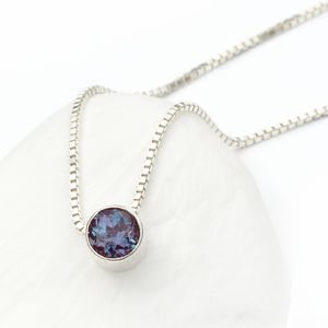 Alexandrite Necklace June Birthstone - necklaces & pendants