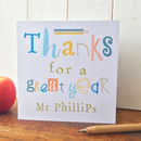 Personalised Thankyou Card For Teacher