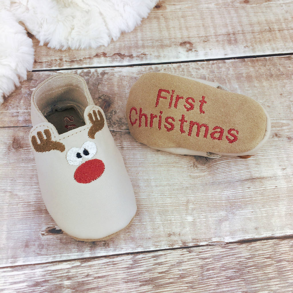 68710c7d7b20 personalised rudolph christmas baby shoes by born bespoke ...