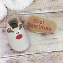 Personalised Rudolph Christmas Baby Shoes