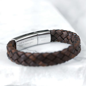 Personalised Men's Secret Message Bracelet - gifts for him