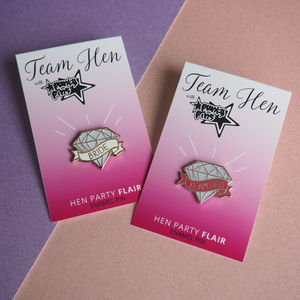 Hen Party Diamond Lapel Pin - room decorations