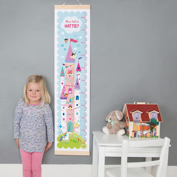 Personalised Fairy Castle Height Chart