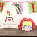 Wooden 3D Owl Puzzles And Christmas Personalised Bag