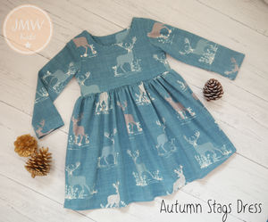 Stag Forest Dress
