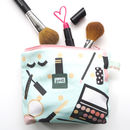 Small Handmade Illustrated Make Up Bag