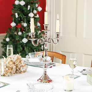Celebration Three Arm Kensington Candelabra