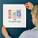 Personalised Family Lockdown Typographic Print