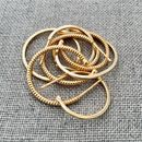 18ct Gold Vermeil / Mixed Hoops / 15mm or 20mm / Plain or Twisted