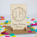 Personalised 18th Birthday Wooden Card