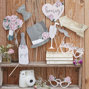 Wedding Day Photo Booth Props Pack