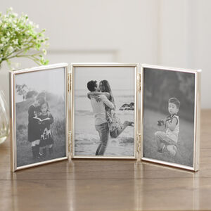 Fine Silver Hinged Triple Photo Frame