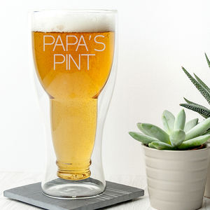 Personalised Bottoms Up Beer Glass - what's new
