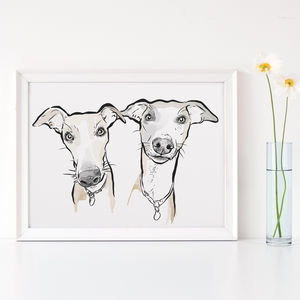 Custom Watercolour Dog Portrait - animals & wildlife