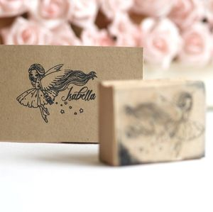 Personalised Fairy Design Rubber Stamp - stationery