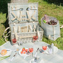 Luxury Personalised Tartan Four Person Picnic Hamper