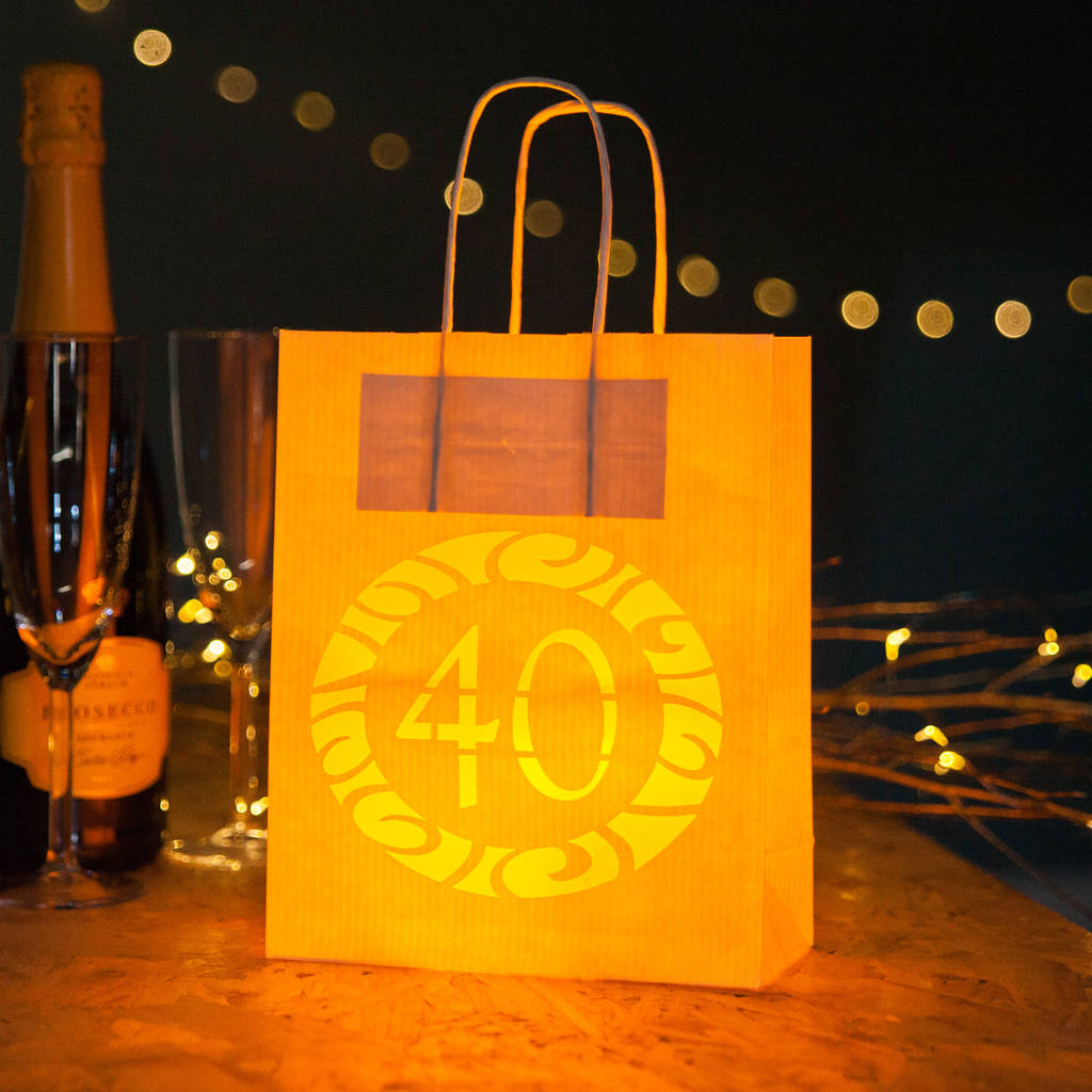 40th Party Decorations Gift Bag