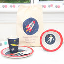 Space Astronaut Dinner Set With Personalised Bag
