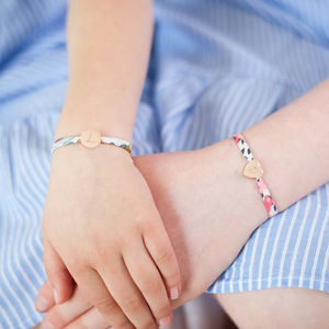 Mini Liberty Print Personalised Sterling Bracelet - jewellery gifts for children