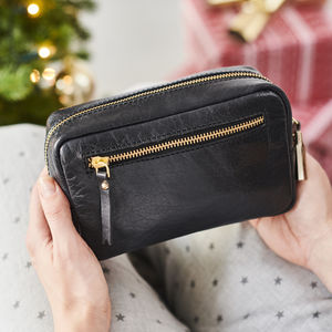 Personalised Leather Cosmetic Bag - gifts for her