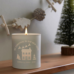 1st Christmas New Home Personalised Candle - dining room