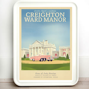 Thunderbirds Creighton Manor Vintage Travel Print
