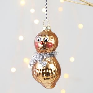 Mr And Mrs Peanut Bauble - christmas sale