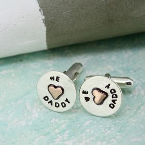 We Love Daddy Cufflinks - cufflinks
