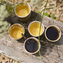 Yellow Expresso Cups Set Of Six