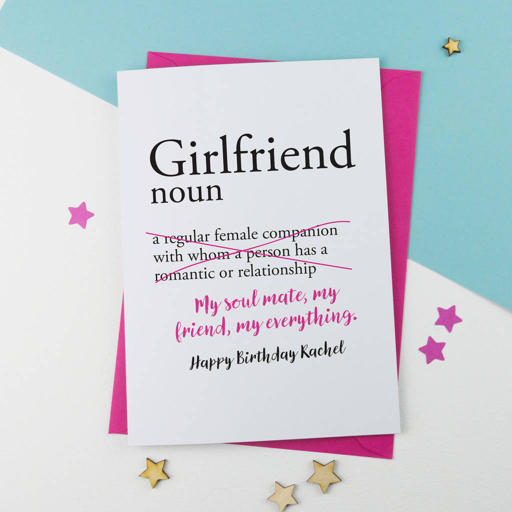 Funny Card For Girlfriend Dictionary