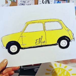 Personalised Classic Mini Car Print
